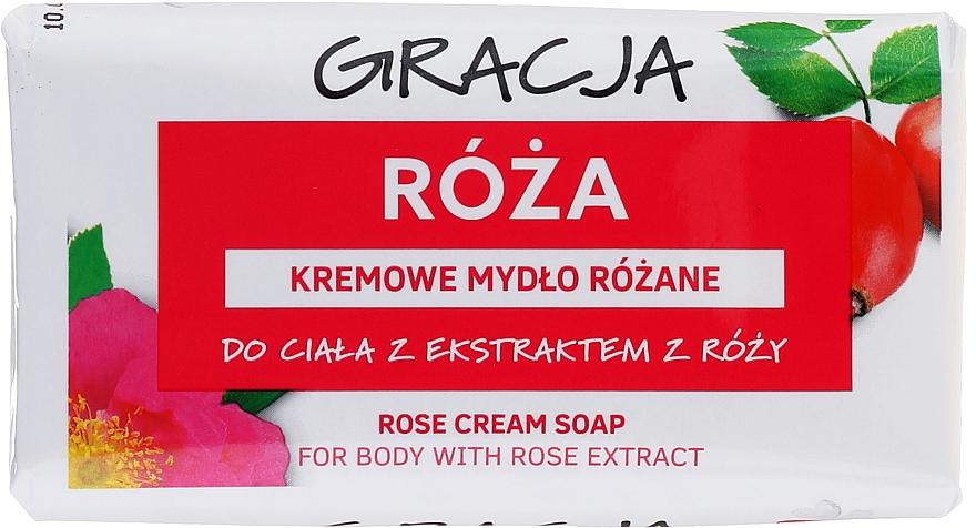 Мыло туалетное с экстрактом розы - Gracja Rose Cream Soap With Rose Extract — фото N1