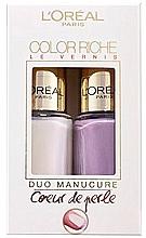 Духи, Парфюмерия, косметика Набор - L'Oreal Paris Color Riche Nail Polish (nail/polish/2x5ml)
