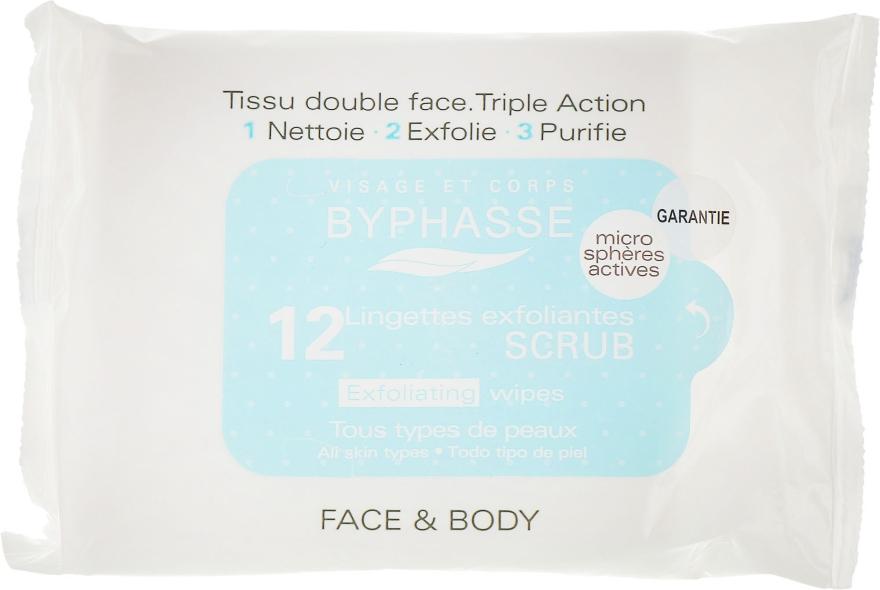 Салфетки для лица отшелушивающие - Byphasse Exfoliating Wipes All Skin Types