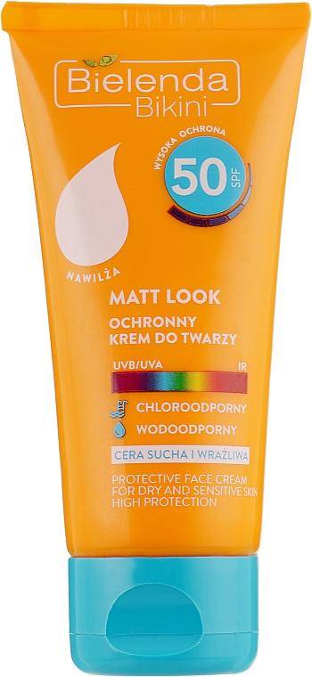Матирующий крем для лица SPF50 - Bielenda Bikini Matt Look Face Cream SPF50