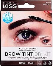 Духи, Парфюмерия, косметика Тинт для бровей - Kiss Brow Tint DIY Kit