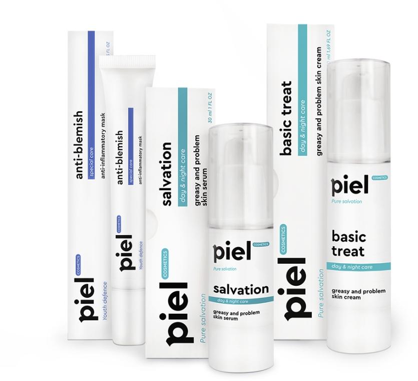 "Набор ""Проблемная кожа"" - Piel Cosmetics (ser/30ml+cr/50ml+mask/25ml)"