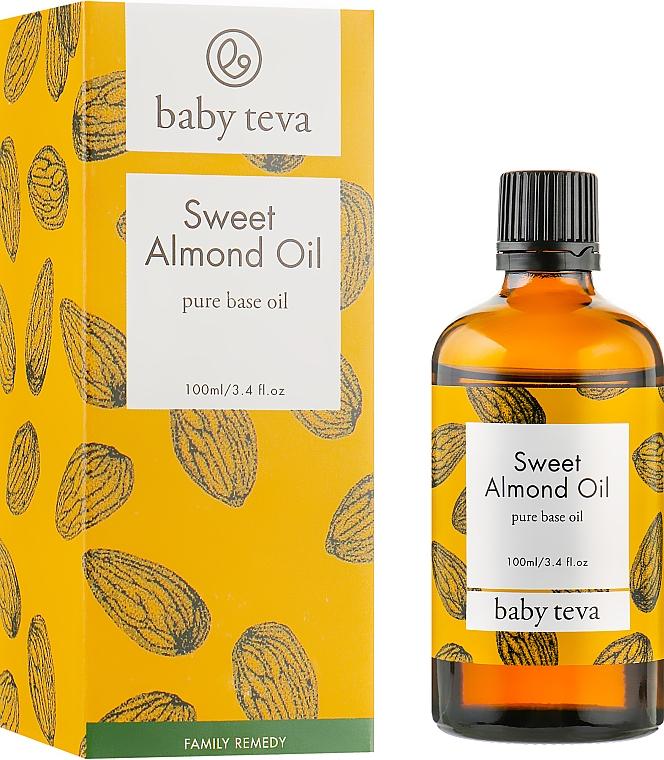 Масло сладкого миндаля для ухода за кожей взрослых и детей - Baby Teva Sweet Almond Oil