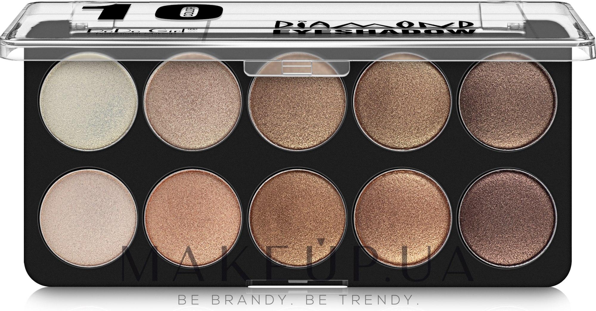 Палетка теней для век - DoDo Girl 10 Color Diamond Eyeshadow — фото 01
