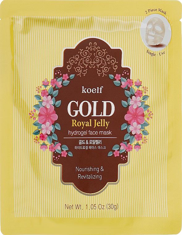 Гидрогелевая маска для лица с золотом и маточкиным молочком - Petitfee&Koelf Gold & Royal Jelly Hydro Gel Mask