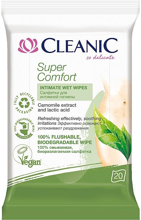 Салфетки для интимной гигиены, 20шт - Cleanic Super Comfort Wipes