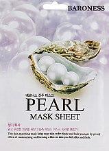 Духи, Парфюмерия, косметика Тканевая маска с экстрактом жемчуга - Beauadd Baroness Mask Sheet Pearl