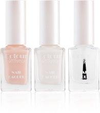 Духи, Парфюмерия, косметика Набір для французського манікюру - Colour Intense French Manicure (polish/5ml + polish/5ml + polish/5ml + stickers/24шт.)