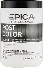 Духи, Парфюмерия, косметика Нейтрализующая маска для завершения процесса окрашивания с протеинами шелка и кератином - Epica Post Color Mask
