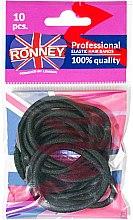 """Духи, Парфюмерия, косметика Резинки для волос """"R4/B/10"""", черные, 10шт - Ronney Professional"""