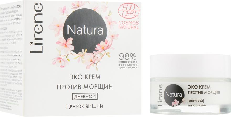"""Дневной крем для лица """"Вишневый цвет"""" - Lirene Natura Eco Cream"""