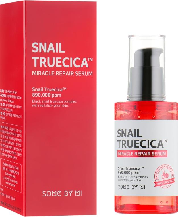 Восстанавливающая сыворотка с муцином чёрной улитки - Some By Mi Snail Truecica Miracle Repair Serum