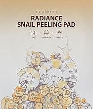 Духи, Парфюмерия, косметика Двухсторонняя пилинг-салфетка с муцином улитки - SeaNtree Radiance Snail Peeling Pad
