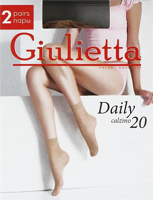 "Носки для женщин ""Daily 20 Calzino"", 2 пары, caramel - Giulietta"