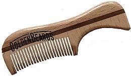 Духи, Парфюмерия, косметика Гребень для бороды из эко дерева, 9,5 см - Golden Beards Eco Moustache Comb