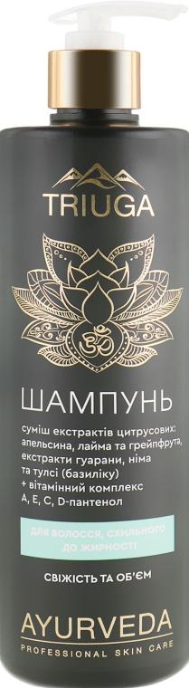 """Шампунь для волос, склонных к жирности """"Свежесть и объем"""" - Triuga"""