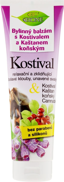 Бальзам для ног - Bione Cosmetics Cannabis Kostival Herbal Ointment with Horse Chestnut