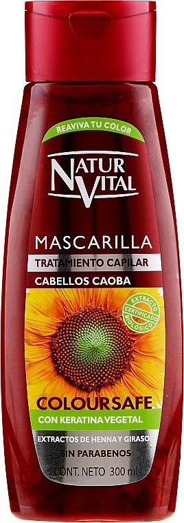 Маска для сохранения цвета окрашенных волос - Natur Vital Coloursafe Henna Hair Mask Mahogony Hair