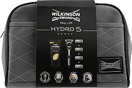 Духи, Парфюмерия, косметика Набор - Wilkinson Sword Hydro 5 Sense (shaver/1pc + blades/4pcs + shv/cr/75ml + bag)