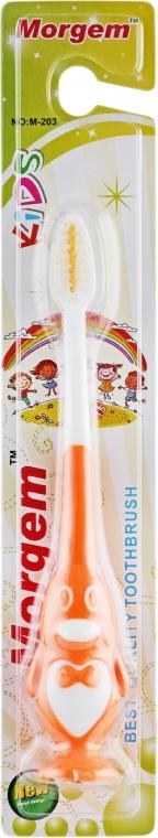 """Зубная щетка """"Kids"""" мягкая, M-203 оранжевая - Morgem"""