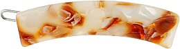 "Духи, Парфюмерия, косметика Заколка для волос ""Дуга"", 1493, бежево-коричневая - Элита"