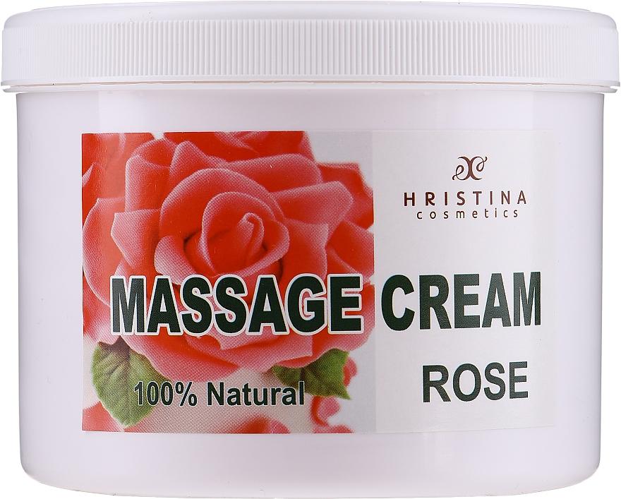 """Массажный крем для лица и тела """"Болгарская роза"""" - Hristina Cosmetics Massage Cream Bulgarian Rose"""