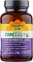 Духи, Парфюмерия, косметика Витаминно-минеральный комплекс для женщин 50+ - Country Life Core Daily Womens 50+