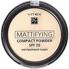 Духи, Парфюмерия, косметика Матирующая компактная пудра для лица - Витэкс Mattifying Compact