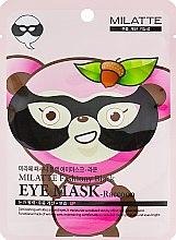Духи, Парфюмерия, косметика Маска от морщин вокруг глаз - Milatte Fashiony Black Eye Mask Raccoon