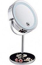 Духи, Парфюмерия, косметика Двойное зеркало для макияжа с Led подсветкой 5X - Mindo