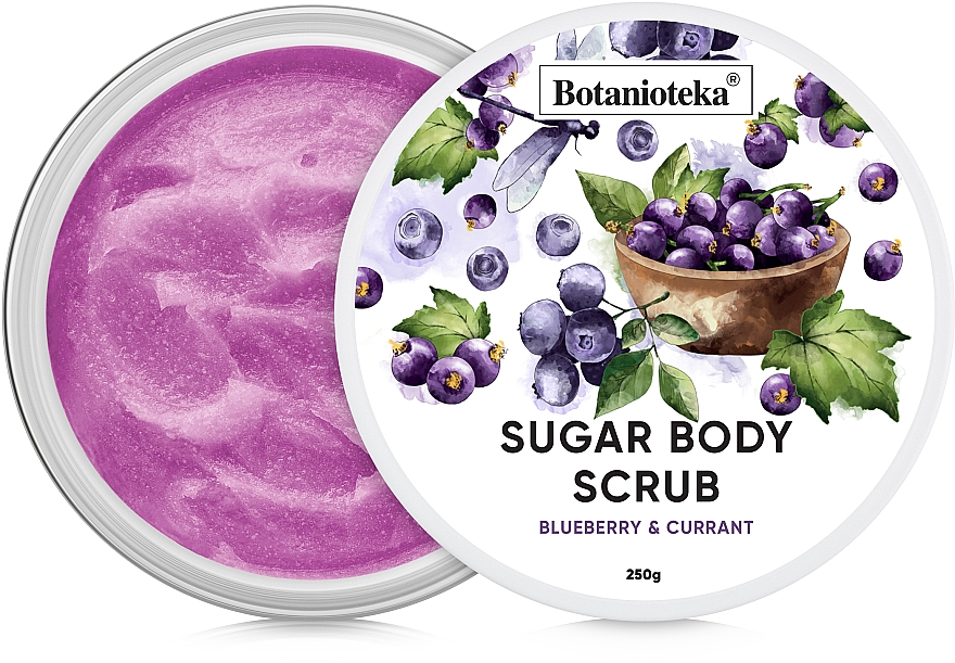 "Сахарный скраб для тела ""Черника и смородина"" - Botanioteka Sugar Body Scrub Blueberry & Currant"