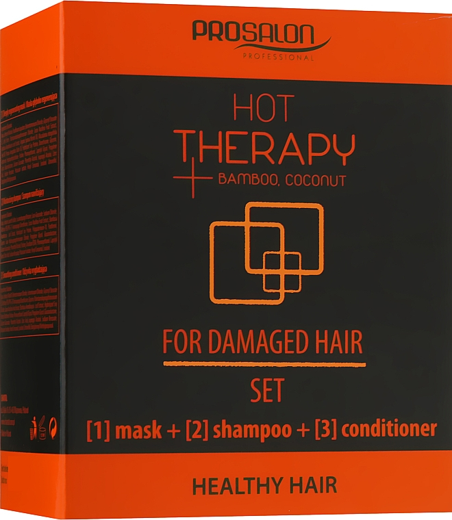 Набор - Prosalon Hot Therapy (mask/50ml + shm/50ml + cond/50ml)