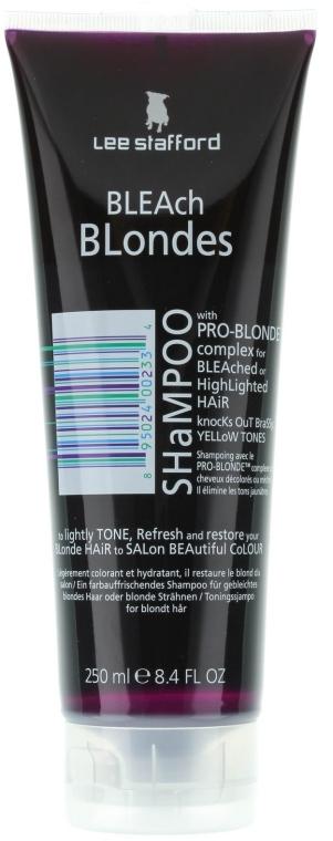 Увлажняющий шампунь для осветленных волос - Lee Stafford Bleach Blonde Shampoo — фото N5