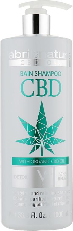 Шампунь для волос с конопляным маслом - Abril et Nature CBD Cannabis Oil Elixir