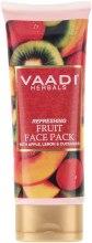 Духи, Парфюмерия, косметика Освежающая фруктовая маска с яблоком, лимоном и огурцом - Vaadi Herbals Face Pack