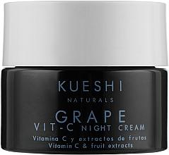 Духи, Парфюмерия, косметика Ночной крем для лица с экстрактом винограда и витамином C - Kueshi Naturals Grape Vit. C Night Cream