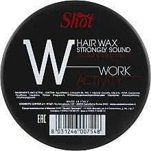 """Воск сильной фиксации с эффектом блеска - Shot Hair Wax Strongly Sound Work Activity """"W"""" — фото N1"""