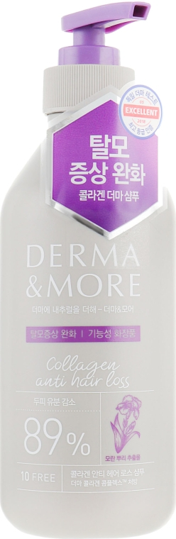 Шампунь против выпадения волос - KeraSys Derma & More Collagen Anti Hair Loss Shampoo