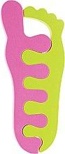 Духи, Парфюмерия, косметика Разделители для пальцев 9585, салатовые с розовым - SPL