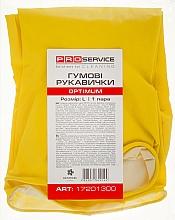Духи, Парфюмерия, косметика Перчатки латексные хозяйственные, размер L, желтые - PRO service Optimum