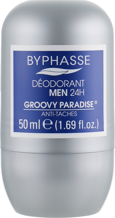 "Мужской дезодорант роликовый ""Захватывающий рай"" - Byphasse 24h Deodorant Man Groovy Paradise"
