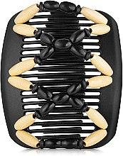 Духи, Парфюмерия, косметика Заколка для волос Beada 003, на черных гребнях - African Butterfly Hair Clip