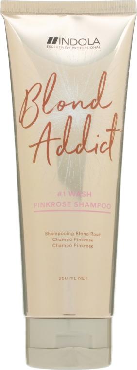 Оттеночный шампунь - Indola Blond Addict PinkRose Shampoo