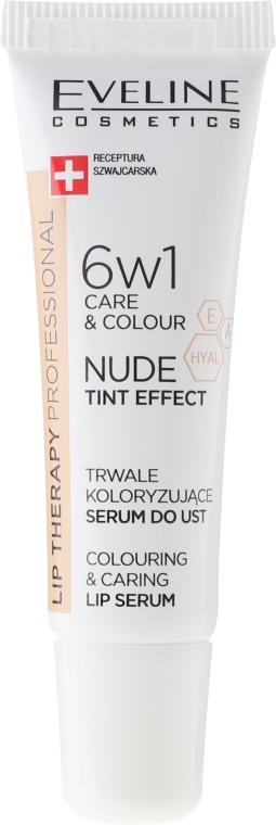 Интенсивная сыворотка для губ 6в1 - Eveline Cosmetics Lip Therapy Proffesional Tint