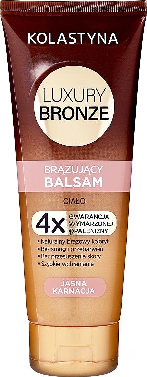 Бальзам для тела с эффектом загара для светлой кожи - Kolastyna Luxury Bronze Balm