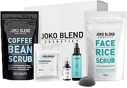 Духи, Парфюмерия, косметика Набор - Joko Blend Beauty Gift Pack (f/scr/150g + b/scr/200g + mask/100g + prim/30ml + sponge)