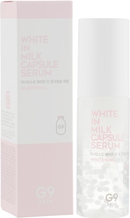 Сыворотка для лица, осветляющая - G9Skin White In Milk Capsule Serum