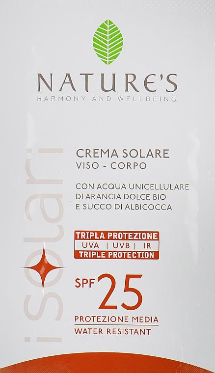 Солнцезащитный крем для лица и тела - Nature's Face Body Sun Cream SPF 25 (пробник)