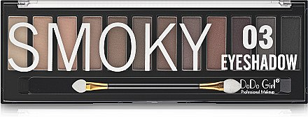 Палетка теней для век - DoDo Girl Smoky Eyeshadow — фото N2