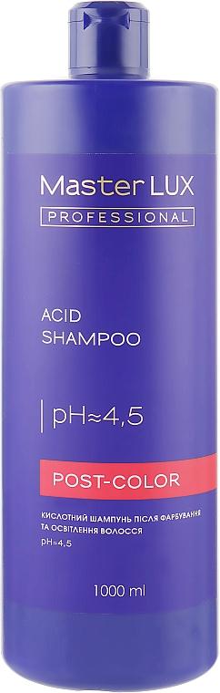 Кислотний шампунь после окрашивания и осветления волос - Master LUX Professional Acid Shampoo Post Color